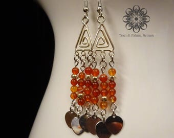 Carnelian Rainfall Earrings