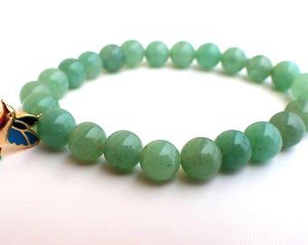 Aventurine bracelet , Beaded bracelet , Healing bracelet , Aventurine woman , Gift for her , Boho bracelet , Gift for girlfriend