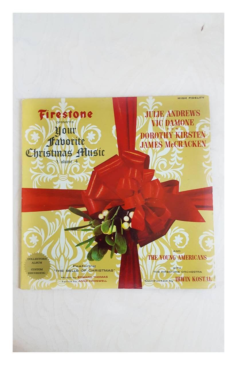 Vintage Record Album Firestone Christmas Favorites Julie