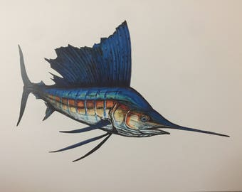 Sailfish Print