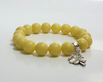 Bracelet yellow jade