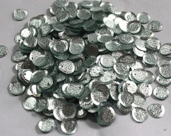 100 Silver Color/ Oval Sequins/Metallic Texture/ KBRS587