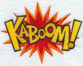 Comic Book KABOOM geborduurde bloem Sack Hand/schotelhanddoek cartoon