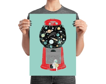 My Childhood Universe - Art Print