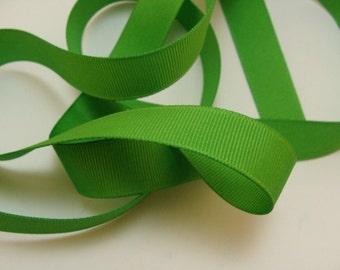 "5/8"" Grosgrain Ribbon - Apple Green - Sewing Trims"