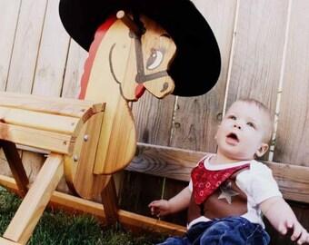 Cowboy Outfit Bodysuit Size 12 Months