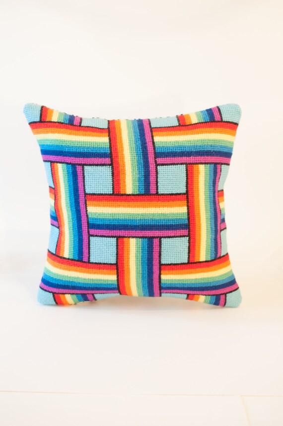 Rainbow Weave Needlepoint Kit