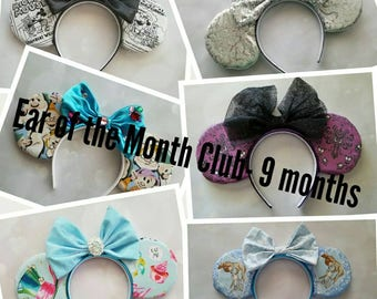 Ear of the Month Club- 9 month subscription