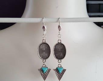 Hanging earrings, frames for 13 x 18 mm Cabochons, earring settings