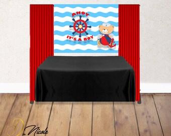 Nautical Baby Shower Custom Banner