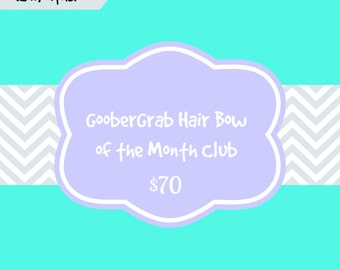 12 Month GooberGrab Hair Bow of the Month Club