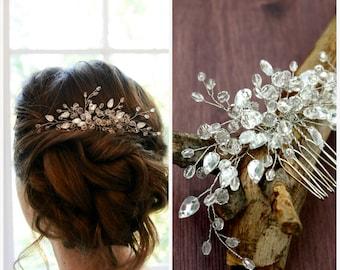 Crystal Bridal Headpiece, Crystal Bridal Hair Comb, Bridal hair piece, Wedding hair piece, Wedding hair comb, Wedding headpiece