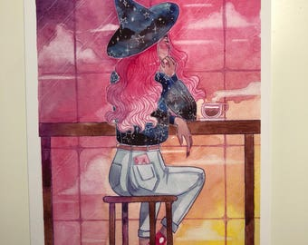 The Witches Brew Window Seat Art Print