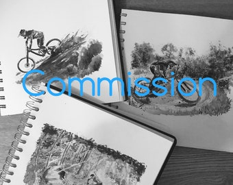 Illustration Commission- MTB,Bike,Road,Cycling