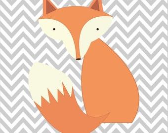 Children's Nursery Fox Poster Print