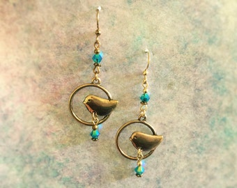 Happiness is a Blue Bird Earring