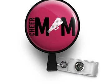 Cheer Mom Retractable ID Badge Reel