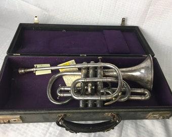RARE 1862 J. Higham , Prize Medal ,Coronet Instrument VERY RARE
