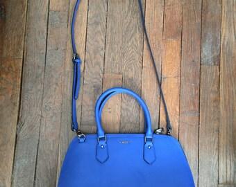 YNOT? Blue leather italian bag