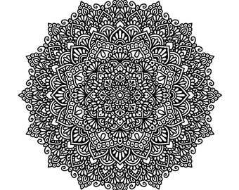 Mandala Colouring Page #2