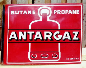 ANTARGAZ vintage enamel sign