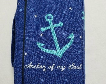 Bible Cover Custom Made Anchor of my Soul Your Bible Measurements Required