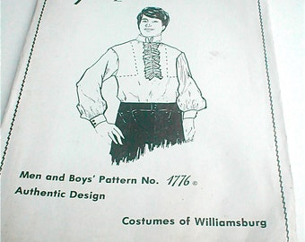 Early Colonial Shirt for Men Pattern - Vintage Williamsburg 1772 by Peggy Miller