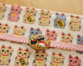 Sushi, obidome, kimono jewelry, resin accessory, obi accessory, miso soup, Japanese food, food jewelry, casual kimono, yukata, kawaii