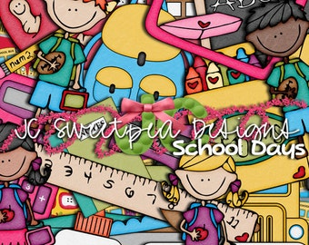 School Days Digital Scrapbooking Kit