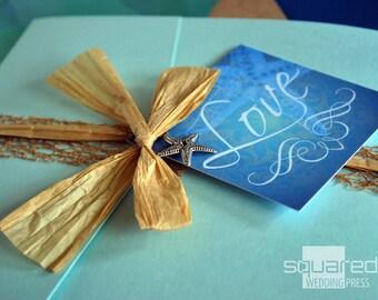 Beach Wedding Invitation - SAMPLE - Destination Wedding Invitation - Wedding Invites, Custom Design for Beach Weddings - Ceremony Cards
