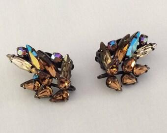 Sherman iridescent purple earrings #1191