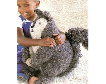 Squirrel Amigurumi Animal Toy Pillow Knitting Pattern For Baby Squirrel Amigurumi Fluffy Tail Knitting Pattern PDF Instant Download