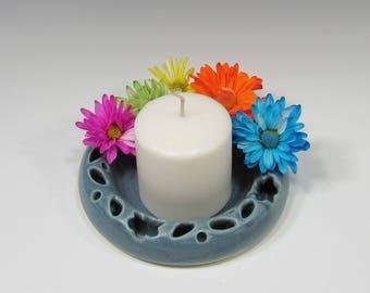 Flower Ring - Posy Ring - Flower Wreath - Tabletop Decor - Centerpiece - Ceramic Flower Ring - Bud Vase - Pottery Ring for Small Flowers