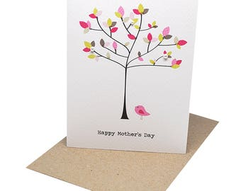 Mothers Day Card | Handmade Card for Mum | Happy Mother's Day Card | Tree with Polkadot Leaves | Card for Mom | Gift for Mum | HMD011