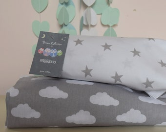 2 X Cot Bed Fitted Sheet 100 COTTON  Cot Bed
