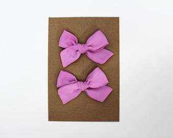 Mini Pinwheel // Orchid Pigtail Set