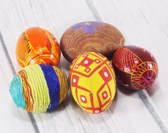 Easter Egg Hunt for kids hand painted wooden eggs vintage Easter eggs Easter decoration set of eggs creative easter eggs unique easter eggs