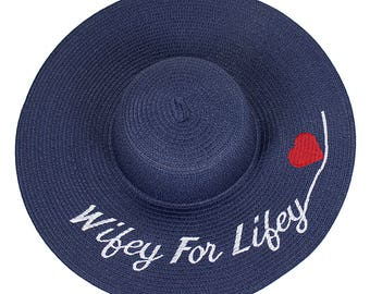 Wifey For Lifey Customize Hat Embroidered Floppy Hat with Heart Make Your Own Statement