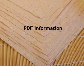 Instant Download PDF Download Hand Papermaking Directions and a Brief History PM-PDF1
