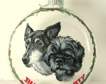 Mothers Day, Custom Pet Portrait Painting, Christmas Ornament, Brussells Griffon, Pet Loss Memorial Art, Glass Painting, Personalized Pet