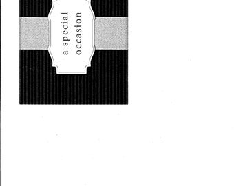 Ribbon Wedding card- Black Tie affair (set of 16)
