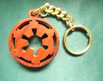 Star Wars keychain, Galactic Empire keyring, Handcrafted wooden keychain