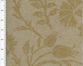 Carnation Floral Print Beige Home Decorating Fabric, Fabric By The Yard