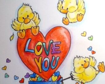 Art Print Childrens Art Love Art for Kids 8.5 x 11