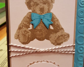 Baby Bear - Boy Card
