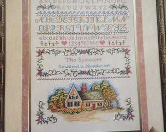 Elsa Williams counted cross stitch Cottage Sampler from Heritage Collection