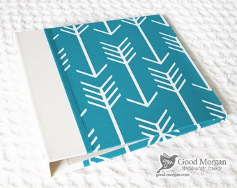 5 Year Baby Memory Book  - Teal Arrows