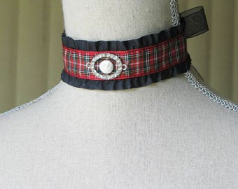 Celtic Tartan Choker / 18th Century Choker / Tartan Plaid / Outlander Inspired / Scottish Jewelry
