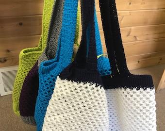 Crochet farmers market beach bag