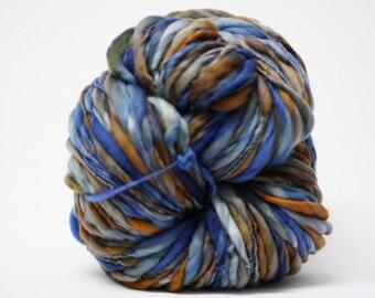 Filée à la main laine fil Super Bulky épais et mince flammé tts(tm) main mérinos teint Self-Striping LR 17 a demi-livres